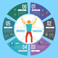 Workout-träningsinfographics vektor