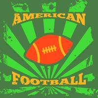 Amerikansk fotboll rugbyaffisch vektor