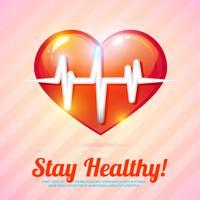 Hälsosam livsstilbakgrund vektor