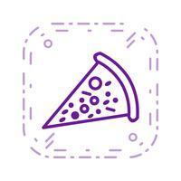 Vektor-Pizza-Symbol vektor