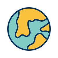 Erde-Vektor-Symbol