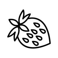 Vektor-Erdbeer-Symbol vektor