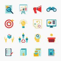 Marknadsförare platt ikon