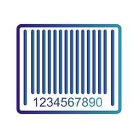 Vektor-Barcode-Symbol vektor