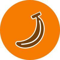 Vektor-Bananen-Symbol vektor