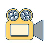 Vektor-Videokamera-Symbol