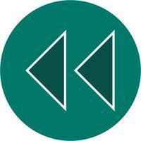 Vektor-Rückwärtspfeile-Symbol