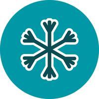 Schnee-Vektor-Symbol