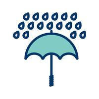 Regenschirm und Regen Vektor Icon