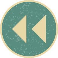 Vektor bakåtpilar ikon