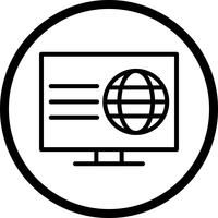 Vektor-Webseiten-Symbol