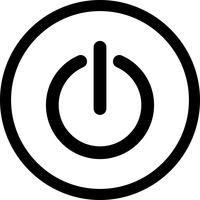 Herunterfahren von Vektor-Symbol vektor