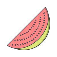 Vektor-Wassermelone-Symbol
