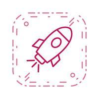 Raumschiff-Vektor-Symbol
