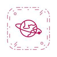 Umlaufbahn um die Erdvektorikone vektor