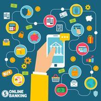 Online banking koncept vektor