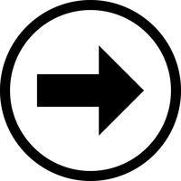 Rechte Vektor-Symbol