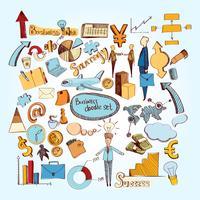 business doodle set vektor
