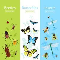 Insekter banner set vektor