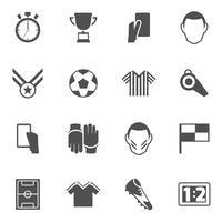 Fotbollsymboler svart vektor