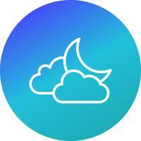 Wolke und Mond Vektor Icon