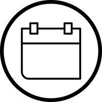 Kalender-Vektor-Symbol vektor