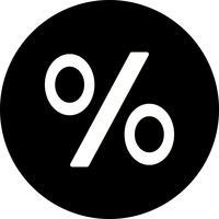 Prozentsatz-Vektor-Symbol vektor