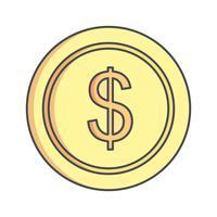 Vektor-Dollar-Symbol vektor
