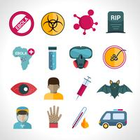 Ebola virus ikoner vektor