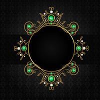 Smycken svart ram