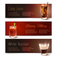 cocktails banner set vektor