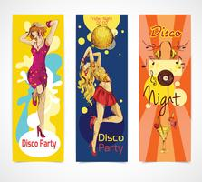 disco sketch banners set