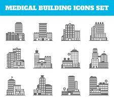 Medizinisches Gebäude schwarz