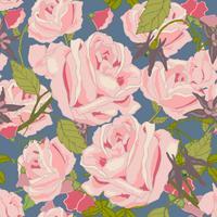 Vintage Blumen nahtlose Muster vektor