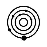 Sonnensystem-Vektor-Symbol vektor