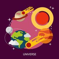 Universum konzeptionelle Illustration Design