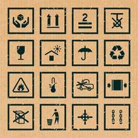 Symbole für Handhabung und Verpackung vektor
