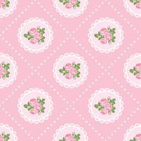 Schäbiger schicker rosafarbener nahtloser Musterhintergrund