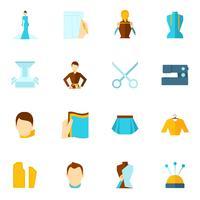 Kläder designer ikon platt vektor