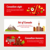 Kanada bannersats vektor