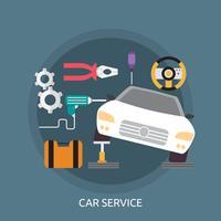 Bil Service Konceptuell Illustration Design