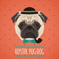 Hipster-Hundeportrait