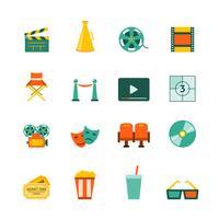 bio platta ikoner uppsättning vektor