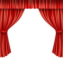 Theatervorhänge isoliert