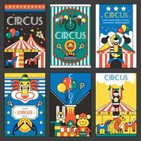 Cirkus retro affischer