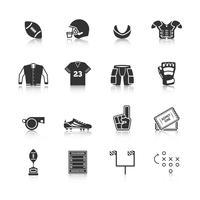 Rugby ikoner Set vektor