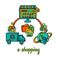 E-handelsdesignkoncept