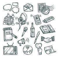 Kommunikations ikonuppsättning
