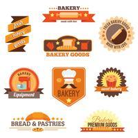 Bageri etikettuppsättning vektor