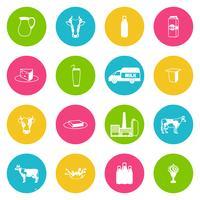 Mjölk ikoner uppsättning
